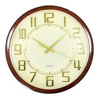 Большие кварцевые часы на стену под дерево