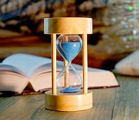 Песочные часы синий песок 5 минут (6х6х11 см)