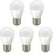 LED  4W Набор светодиодных ламп Feron шар  E27 4000K--5 штук
