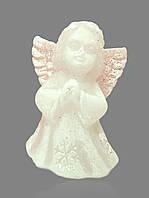 """Свеча праздничная с блестками """"Ангелочек маленький"""" белая"""