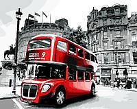 Раскраска по номерам (40х50см) Лондонский автобус