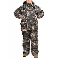 """Зимний костюм Камуфляж """"Камыш-1"""" мембранная ворса alova для охоты и рыбалки, удлиненная куртка"""