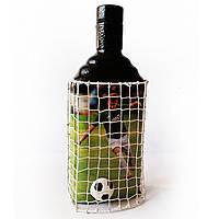 Декор бутылки Футбольному фанату ФК Динамо Подарок мужчине на день рождения
