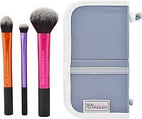 Real Techniques Travel Essentials Brush Set набор из 3 кистей для макияжа, фото 1