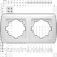 Двойная горизонтальная рамка VIKO Carmen белая