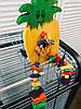 Деревянная игрушка для попугаев «Ананас» (большой)