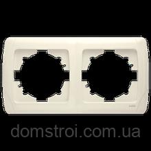 Двойная горизонтальная рамка VIKO Carmen крем