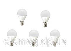 LED 4W Набор светодиодных ламп шар Feron E14  4000K--5 штук