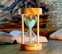 Песочные часы зеленый песок 10 минут (8х8х14 см)