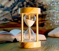 Песочные часы белый песок 10 минут (8х8х14 см)