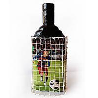 Декор бутылки Футбольному фанату ФК Барселона Подарок мужчине на новый год день рождения