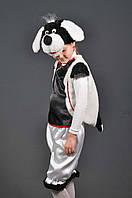 Детский карнавальный костюм СОБАЧКА, СОБАКА  (белая) на 5,6,7,8,9,10 лет новогодний маскарадный костюм СОБАКИ