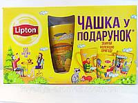 Подарочный набор Липтон чай 4 вида, 100 пакетиков Lipton с чашкой