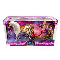 TG Карета 778418/209 A, кукла,лошадь ходит,аксессуары,звук,свет,на батарейках