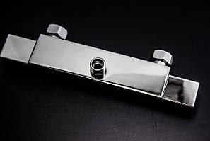 Термостатический смеситель, Кран термостат,  ( СТ-1008 ) хромированный, настенный квадратной формы, для ванны