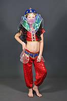 Детский карнавальный костюм ВОСТОЧНАЯ КРАСАВИЦА (красный) на 5,6,7,8,9,10,11 лет новогодний маскарадный костюм