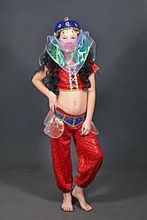 Детский карнавальный костюм ВОСТОЧНАЯ КРАСАВИЦА (красный) на 5,6,7,8,9,10,11 новогодний маскарадный костюм 329