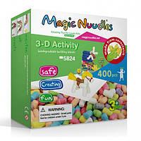 Конструктор, развивающие игрушки, Magic Nuudles, 400 деталей, мягкий конструктор, развивающий конструктор