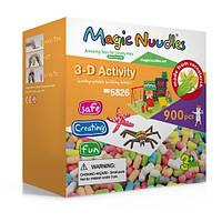 Конструктор, развивающие игрушки, Magic Nuudles, 900 деталей, мягкий конструктор, развивающий конструктор