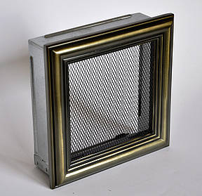 Решетка каминная 17х17 ретро, вентиляционная для камина, декоративная