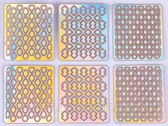 Виниловый трафарет для аэропуффинга и дизайна ногтей SH8, фото 2