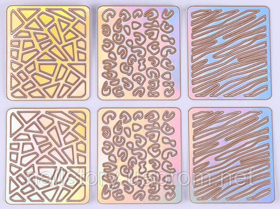 Виниловый трафарет для аэропуффинга и дизайна ногтей SH10, фото 2