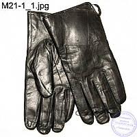 Мужские кожаные зимние перчатки на овчине - M21-1