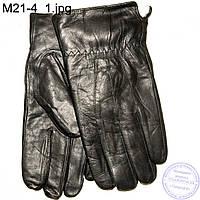 Мужские кожаные зимние перчатки с натуральной овчиной - M21-4