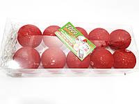 Гирлянда Хлопковые шарики Красная D-6 см, 1,7м. ТХ01622-6, фото 1