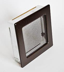 Решетка каминная 17х17 антик медь, вентиляционная для камина, декоративная