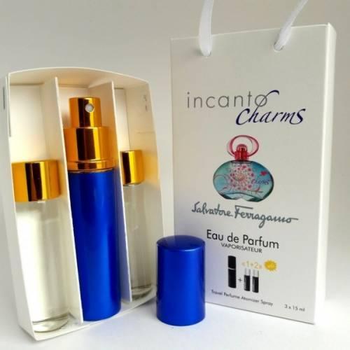 SALVATORE FERRAGAMO Мини парфюм SALVATORE FERRAGAMO INCANTO CHARMS EDP 3x15 ml. LUX