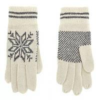 Перчатки женские вязка 3010-1 Haieryi ПЖ вяз бел