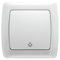 Кнопочный выключатель VIKO Carmen белый