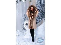Женское зимние пальто  Меховая окантовка