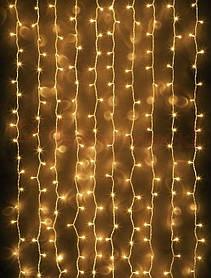 Гирлянда Занавес светодиодная 120 led белый теплый 1,5х1м