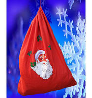 Мешок Деда Мороза 50 х 60 см, флисовый