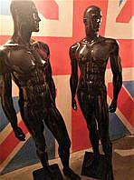 Манекен мужской черный глянец