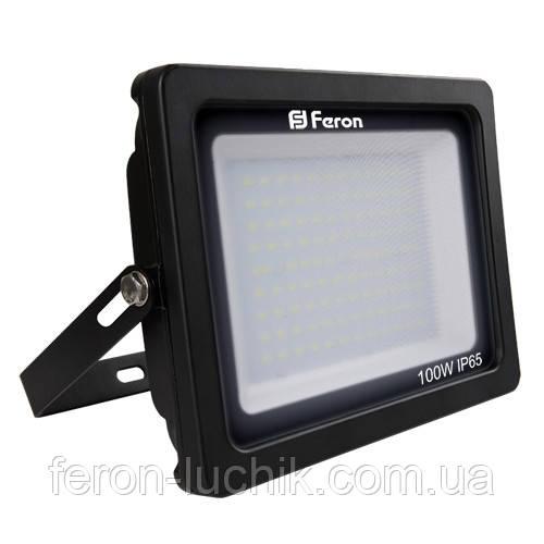 Мощный LED прожектор Feron 100W, световой поток  - 8000 Lm. Гарантия - 1 год.