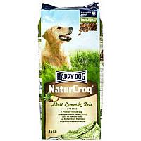 Корм для взрослых собак NaturCroq (Ягненок и рис)всех пород 15 кг премиум-класс (02563) Happy Dog (Хэппи Дог)