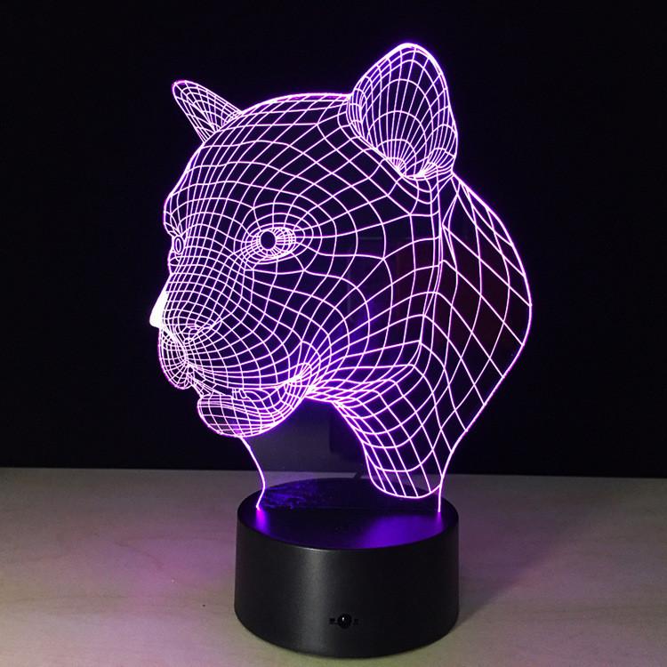 Сменное стекло на 3D светильник, Пантера