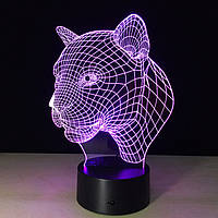 Сменная пластина на 3D светильник Пантера