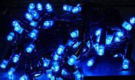 Уличная гирлянда Нить Синяя светодиодная 5 метров