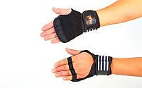 Перчатки (накладки) для поднятия веса VALEO  (неопрен, PL, эластан, р-р L-XL), фото 1