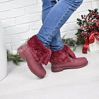 Ботинки женские Valeri бордо Зима