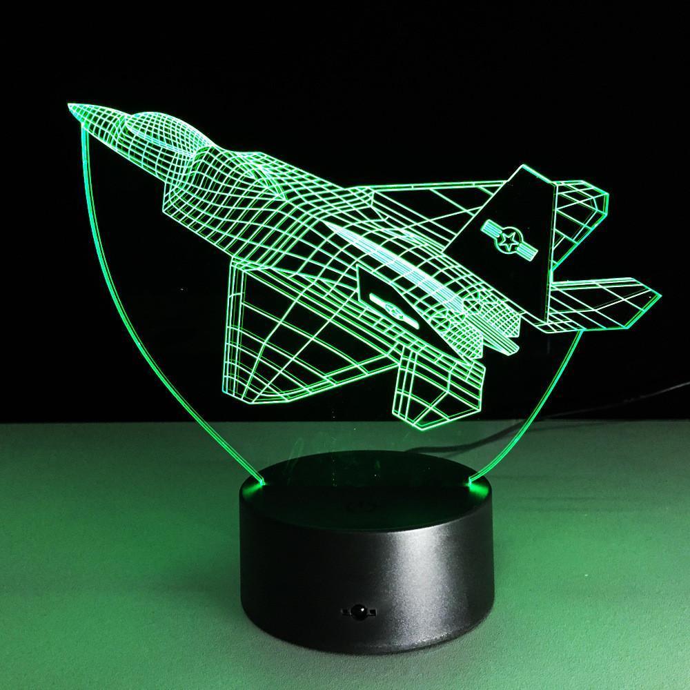 Сменная пластинка на 3D ночник, Самолет