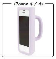 Чехол (силикон) 3D для iPhone 4/4S. Модель: КРУЖКА Taylor Mug. Цвет: белый.