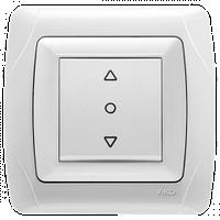 Кнопка управления жалюзи 1-клав. VIKO Carmen белый