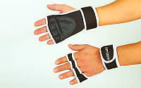 Рукавички (накладки) для підняття ваги Zelart (PVC, PL, еластан, р-р S-XXL), фото 1