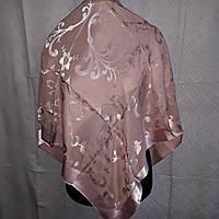 Свадебный шелковый платок 100*100
