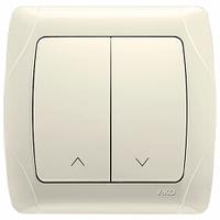 Кнопка управления жалюзи 2-клав. VIKO Carmen крем